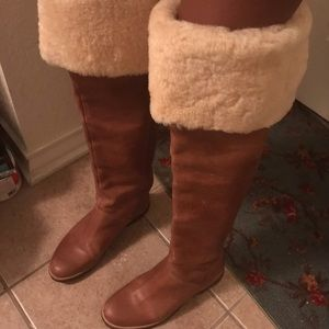 Vintage MK Over The Knee Brown Leather Boot